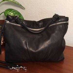 EUC🌹MARGOT Black Pebble Leather Shoulder/Hand Bag
